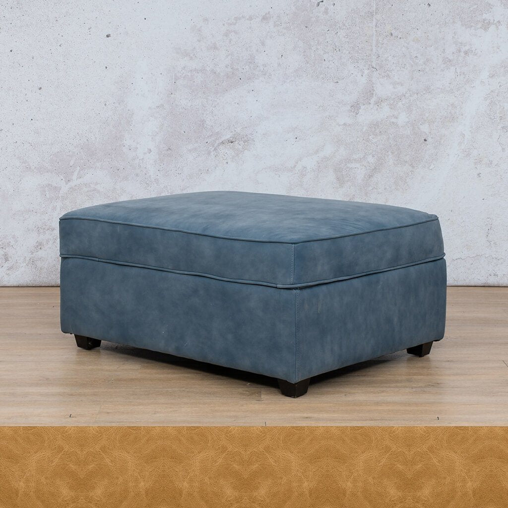 Arizona Leather Couch | Ottoman | Royal Hazelnut | Leather Gallery