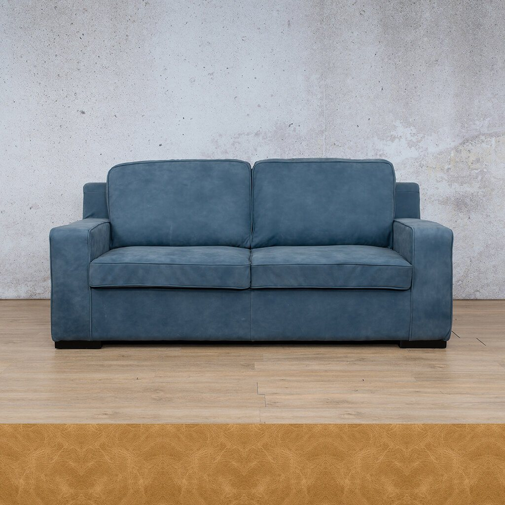 Arizona Leather Couch | 3 Seater | Royal Hazelnut | Leather Gallery