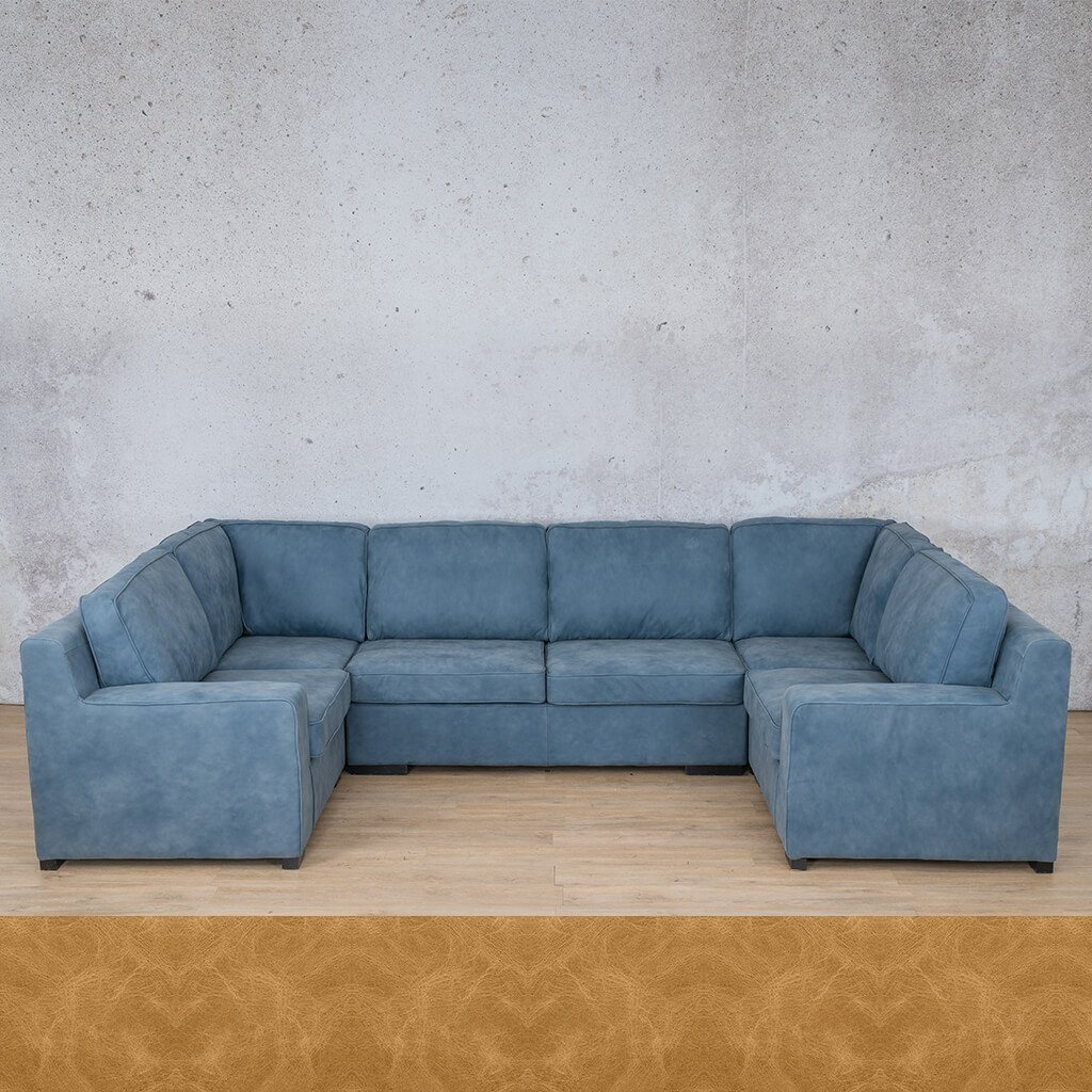 Arizona Leather Couch | U-Sofa | Royal Hazelnut | Leather Gallery