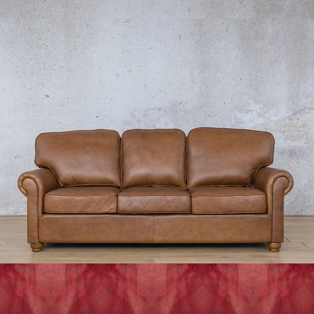 Salisbury Leather Couch | 3 seater couch | Royal Ruby | Couches for Sale | Leather Gallery Couches