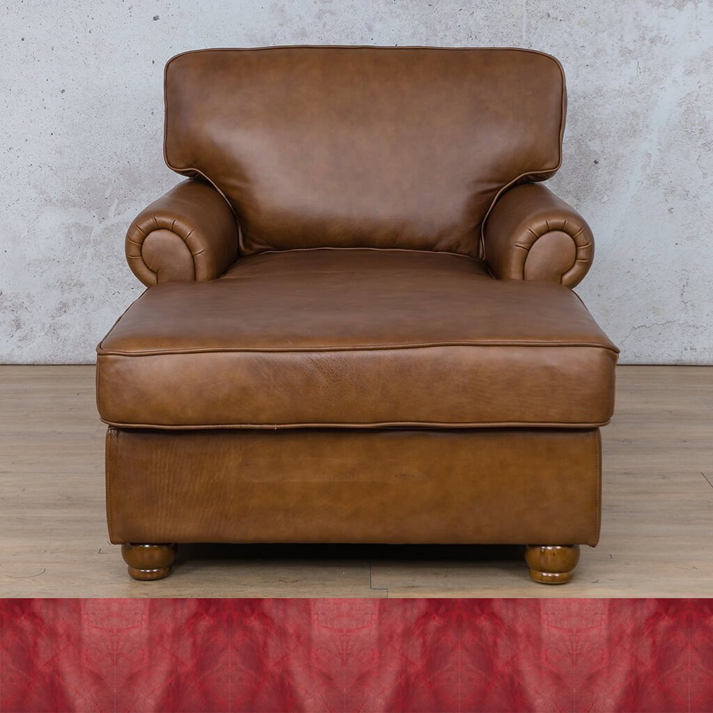 Salisbury Leather Corner Couch | 2 Arm Chaise | Royal Ruby | Couches For Sale | Leather Gallery Couches