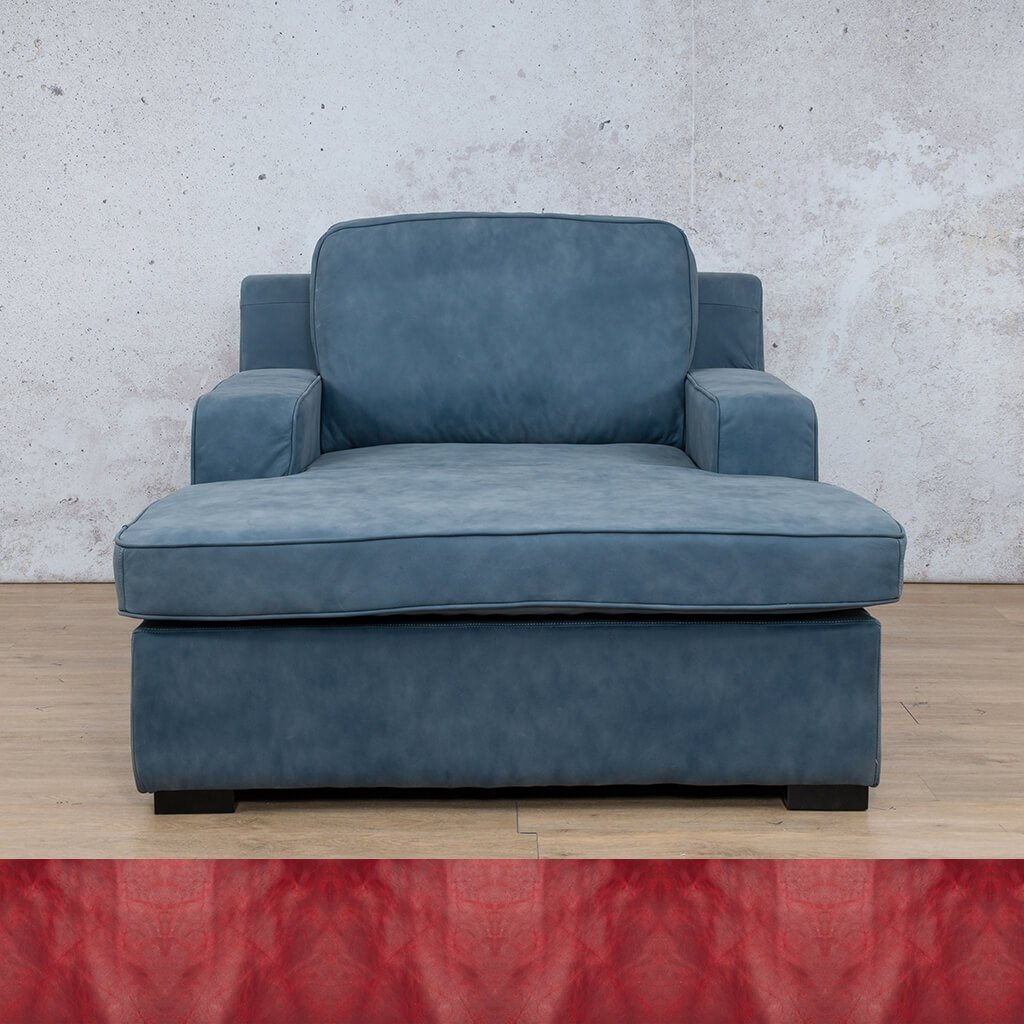 Arizona Leather Couch | Chaise 2 Arm | Royal Ruby | Leather Gallery