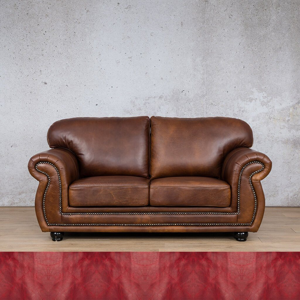 Isilo Leather Couch | 2 Seater Couch | Couches for Sale | Royal Ruby | Leather Gallery Couches