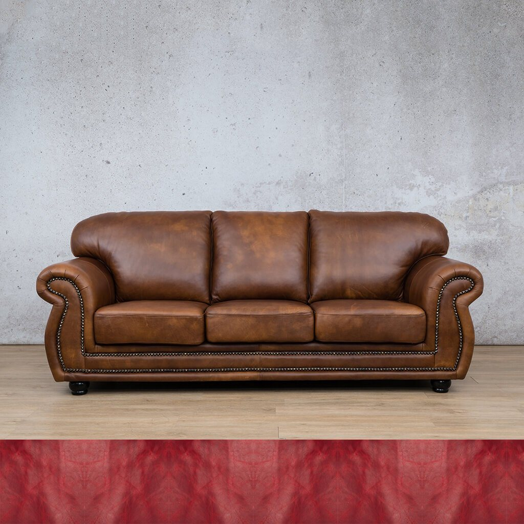 Isilo Leather Couch | 3 Seater Couch | Couches for Sale | Royal Ruby | Leather Gallery Couches