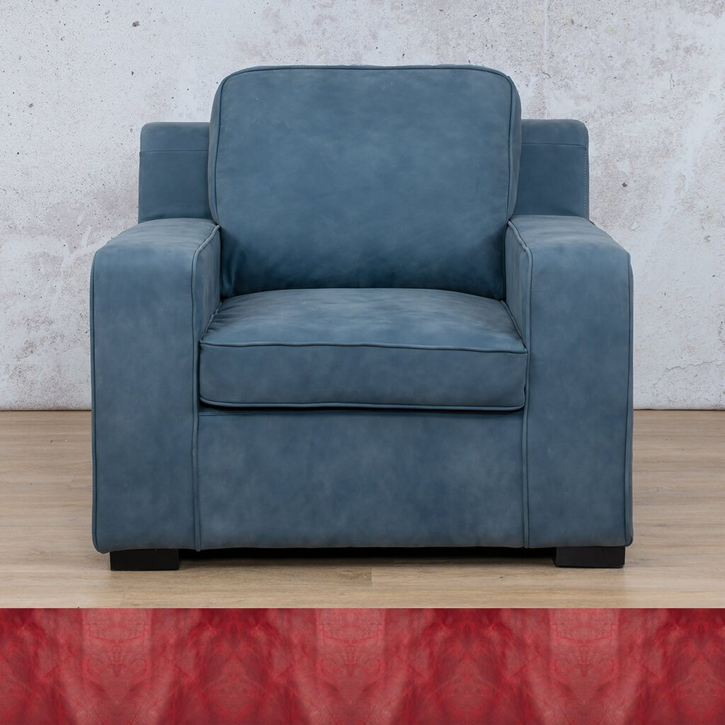 Arizona Leather | 1 Seater | Royal Ruby | Leather Gallery