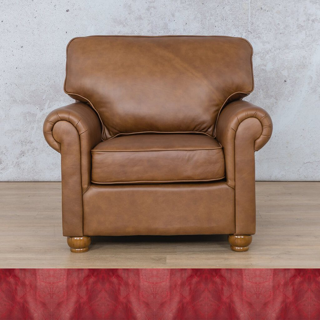 Salisbury Leather Couch | 1 seater couch | Royal Ruby | Couches for Sale | Leather Gallery Couches