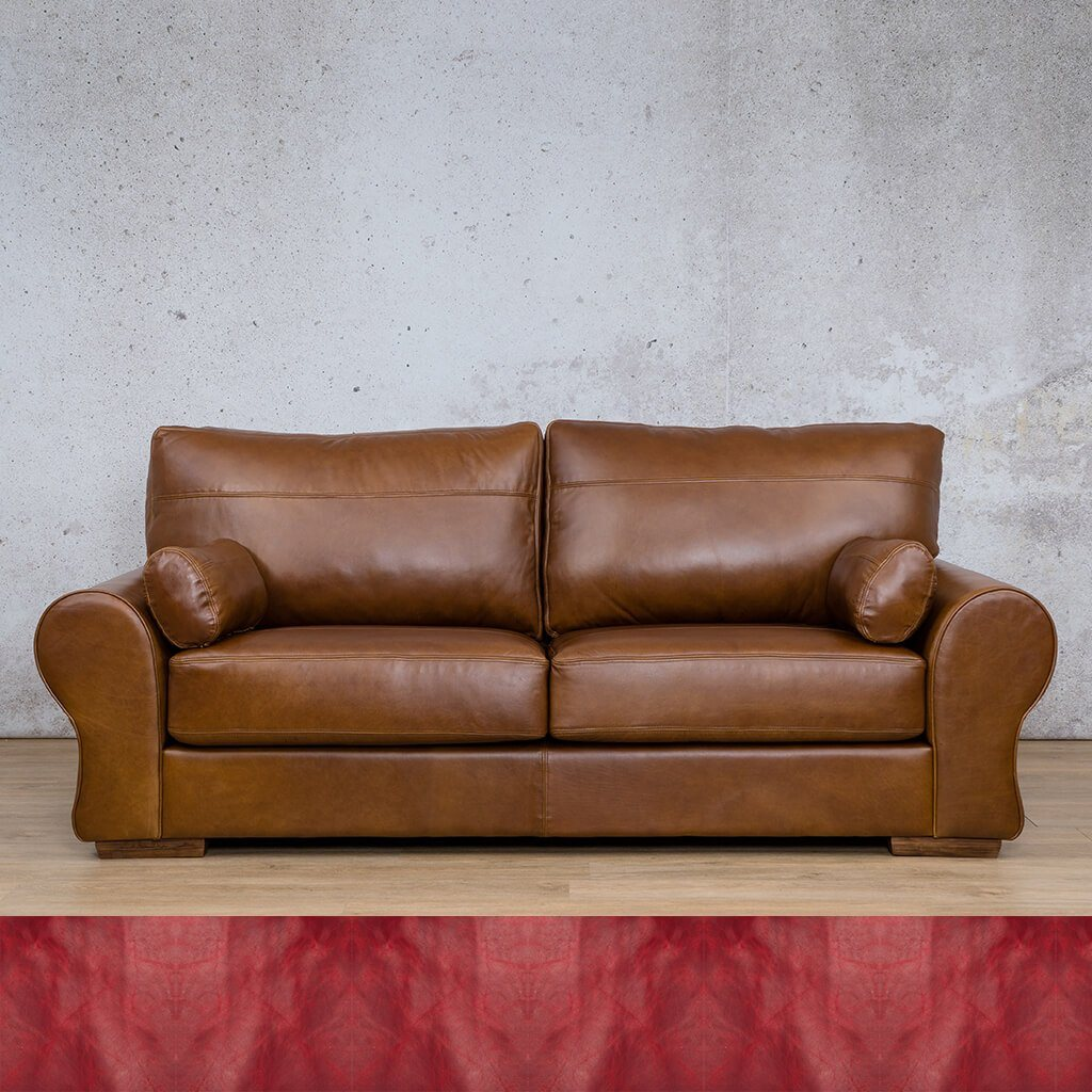 Carolina Leather Couch | 3 Seater Couch | Couches for Sale | Royal Ruby | Leather Gallery Couches