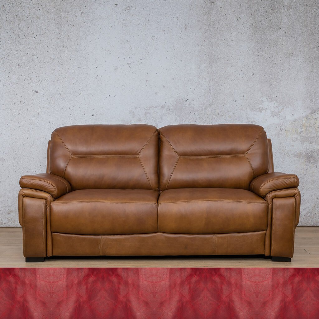 San Lorenze Leather Couch | 3 Seater Couch | Couches for Sale | Royal Ruby | Leather Gallery Couches