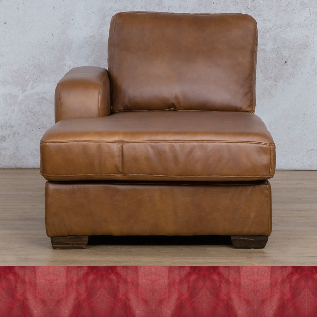 Stanford Leather Chaise Right Arm
