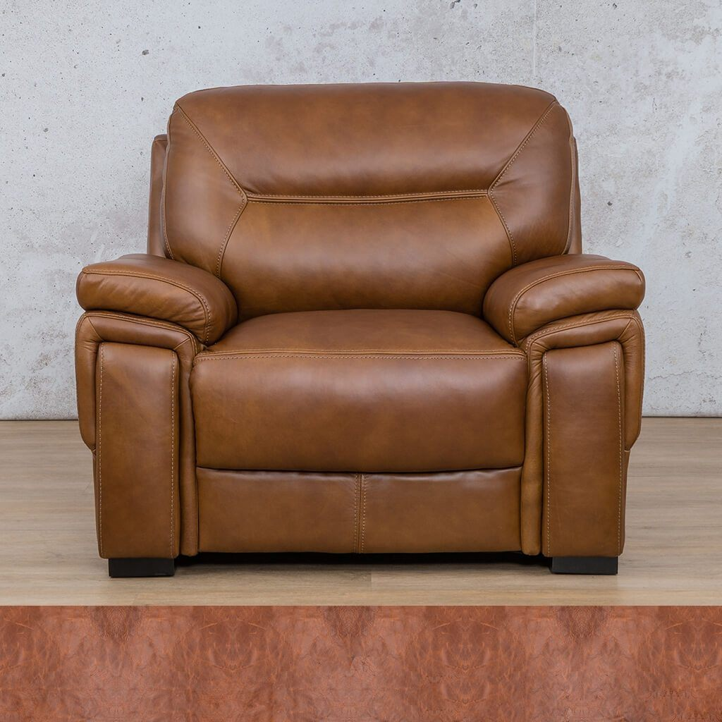 San Lorenze 1 Seater Leather Sofa