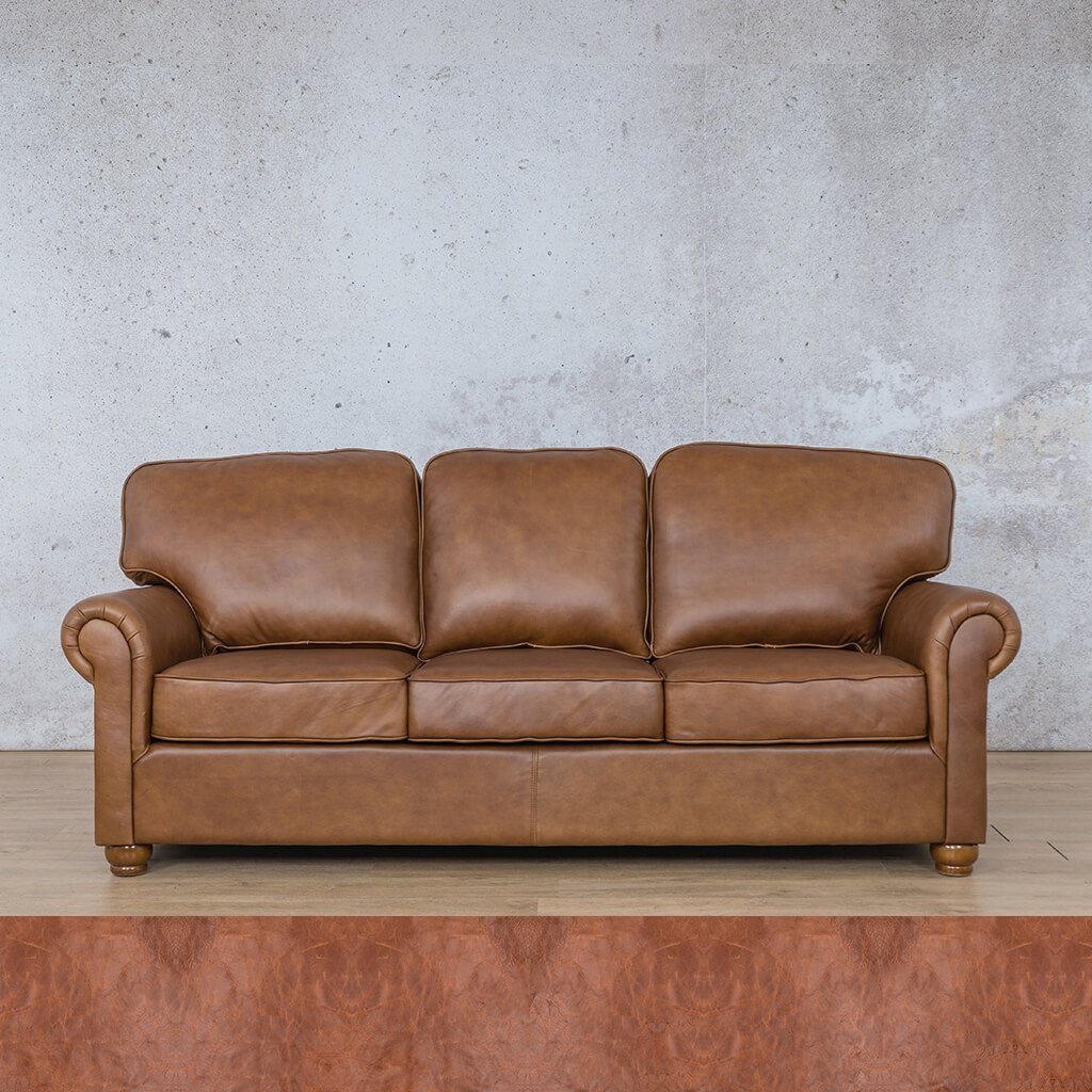 Salisbury Leather Couch | 3 seater couch | Royal Saddle | Couches for Sale | Leather Gallery Couches
