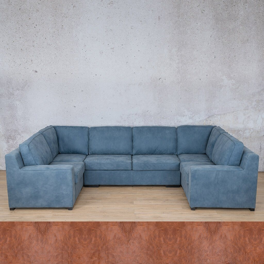 Arizona Leather Couch | U-Sofa | Royal Saddle | Leather Gallery