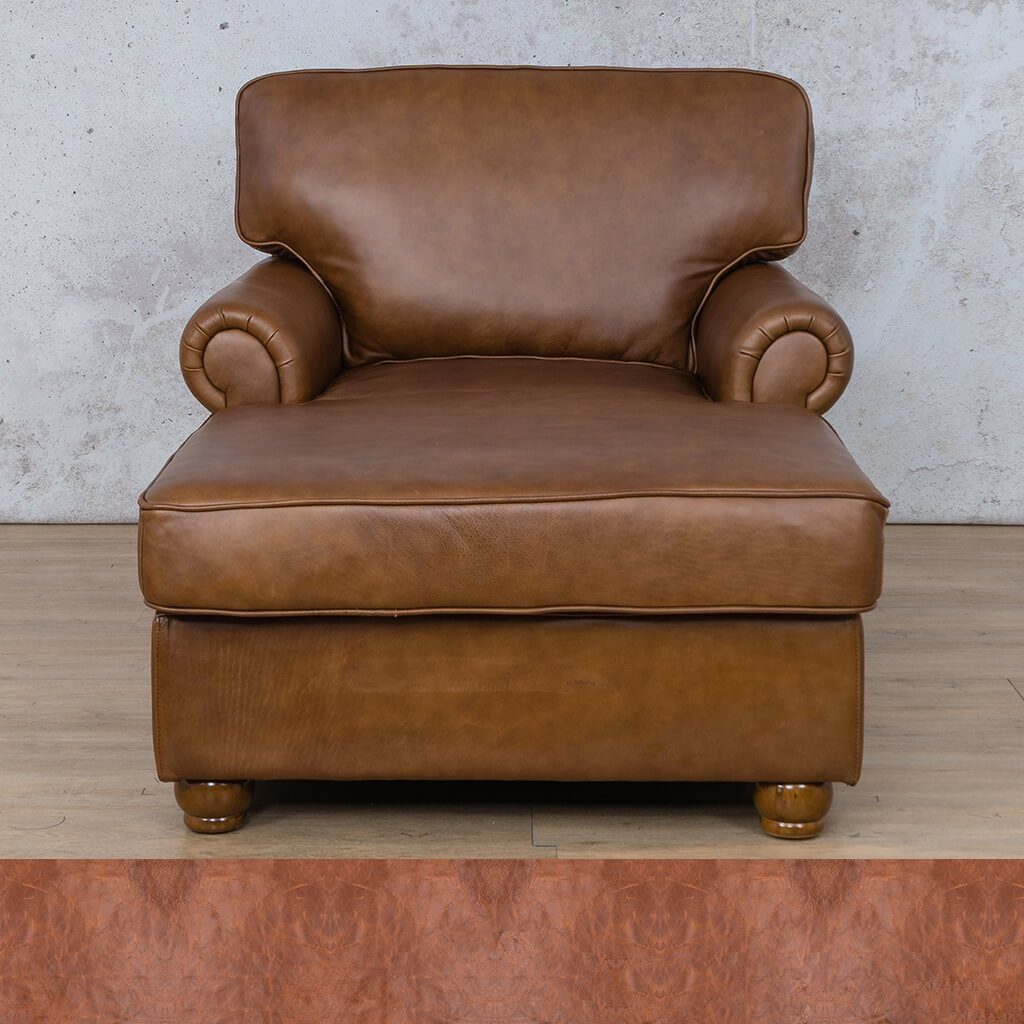 Salisbury Leather Corner Couch | 2 Arm Chaise | Royal Saddle | Couches For Sale | Leather Gallery Couches