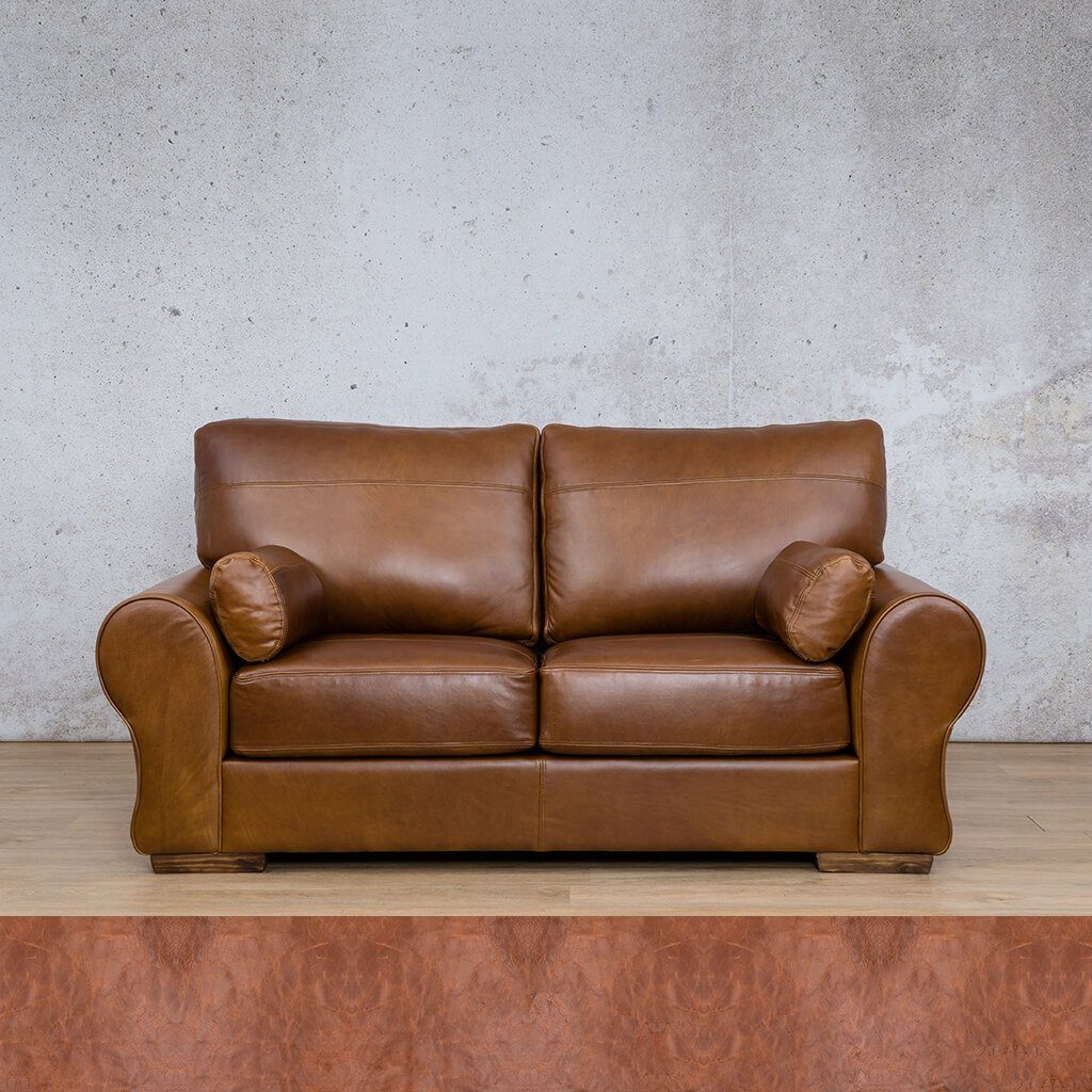 Carolina Leather Couch | 2 Seater | Royal Saddle | Leather Gallery