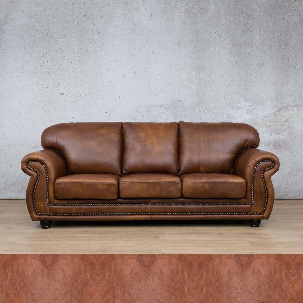 Isilo Leather Couch | 3 Seater Couch | Couches for Sale | Royal Saddle | Leather Gallery Couches
