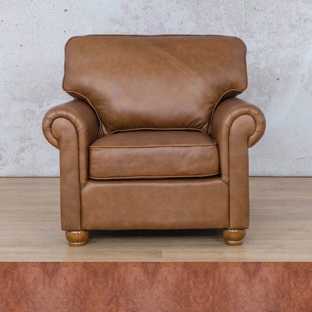 Salisbury Leather Couch | 1 seater couch | Royal Saddle | Couches for Sale | Leather Gallery Couches