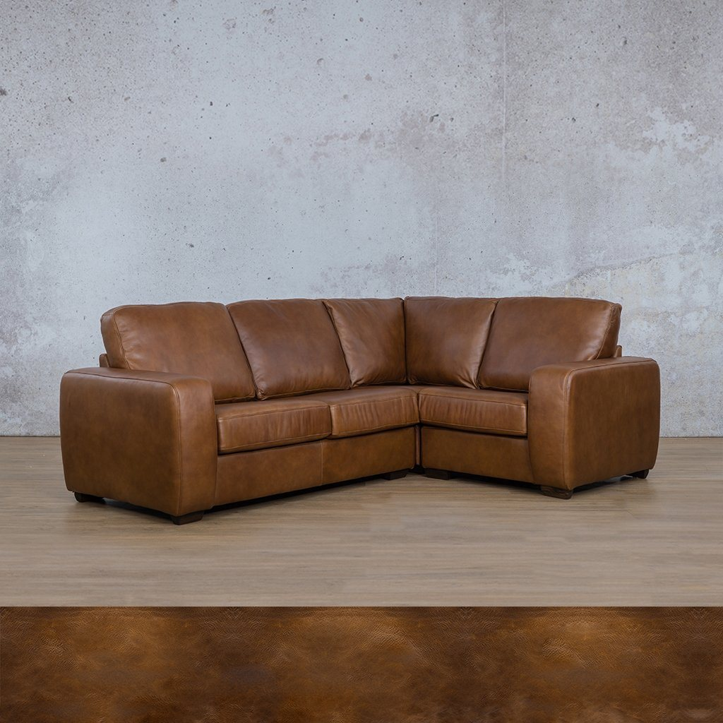 Starnford Leather Corner Couch | L-Sectional 4 Seater-RHF | Royal Walnut | Couches For Sale | Leather Gallery Couches