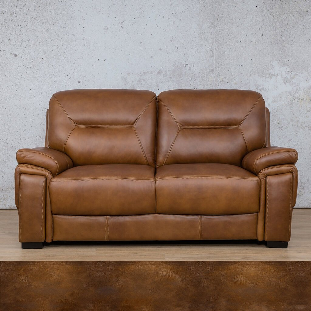 San Lorenze Leather Couch | 2 Seater Couch | Couches for Sale | Royal Walnut | Leather Gallery Couches