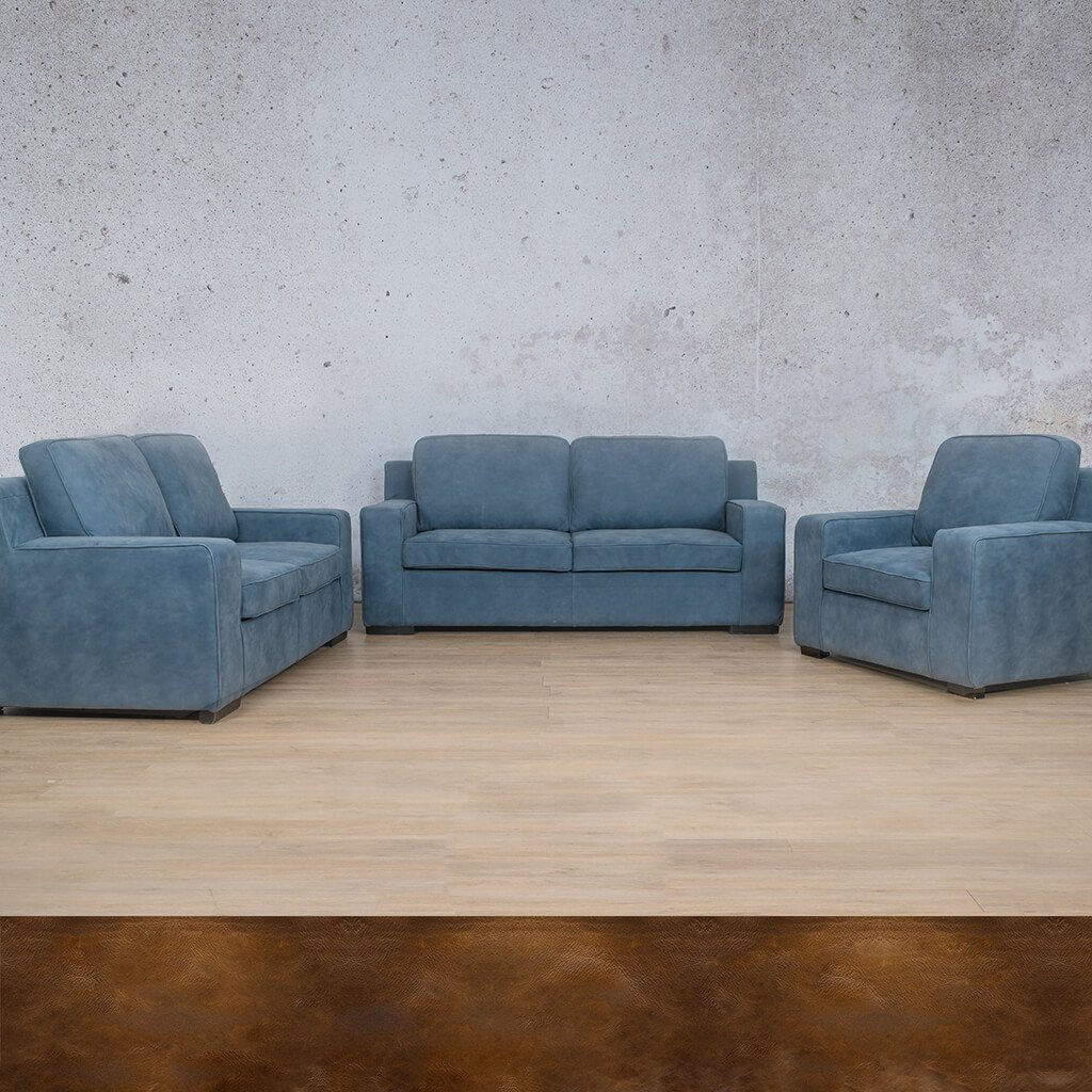 Arizona Leather Couches | 3-2-1 Seater Couches | Couches for Sale | Royal Walnut | Leather Gallery Couches