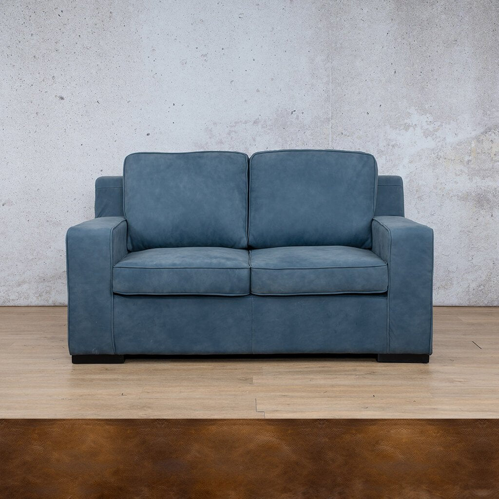 Arizona Leather Couch | 2 seater couch | Royal Walnut-A | Couches for Sale | Leather Gallery Couches