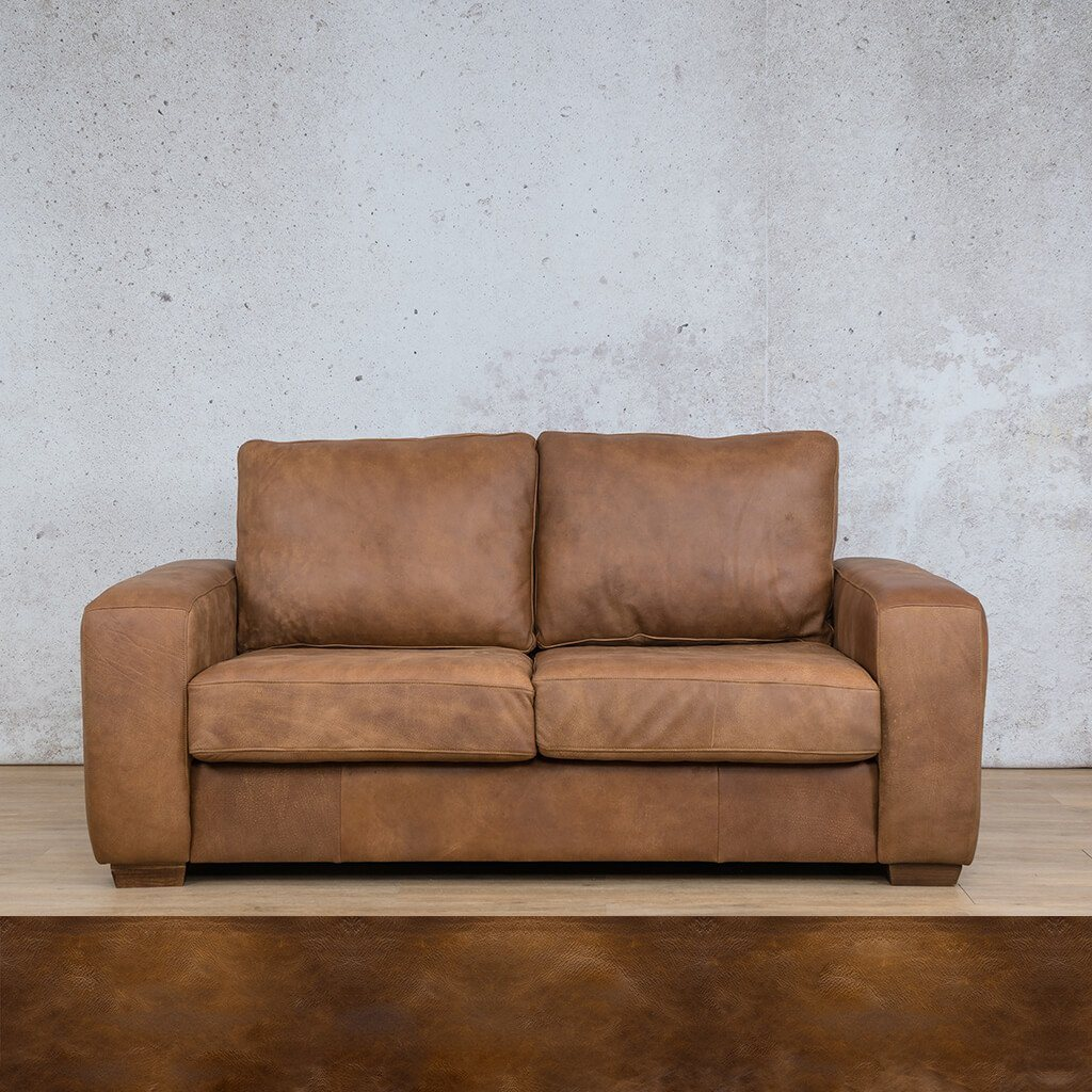 Stanford Leather Couch | 2 seater couch | Royal Walnut | Couches for Sale | Leather Gallery Couches