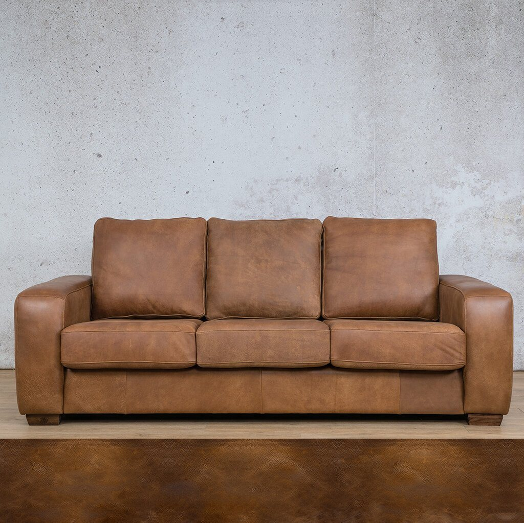 Stanford Leather Couch | 3 Seater Couch | Couches for Sale | Royal Walnut | Leather Gallery Couches