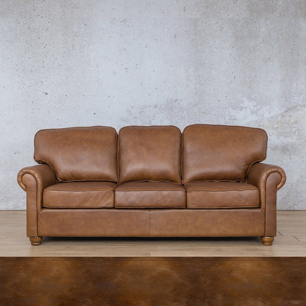 Salisbury Leather Couch | 3 seater couch | Royal Walnut | Couches for Sale | Leather Gallery Couches