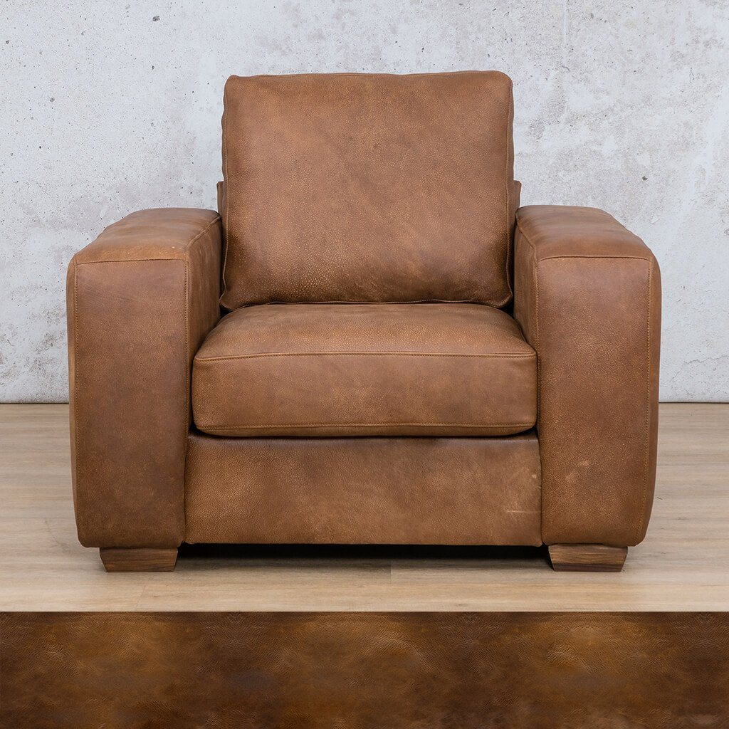Stanford Leather Couch | 1 seater couch | Royal Walnut | Couches for Sale | Leather Gallery Couches