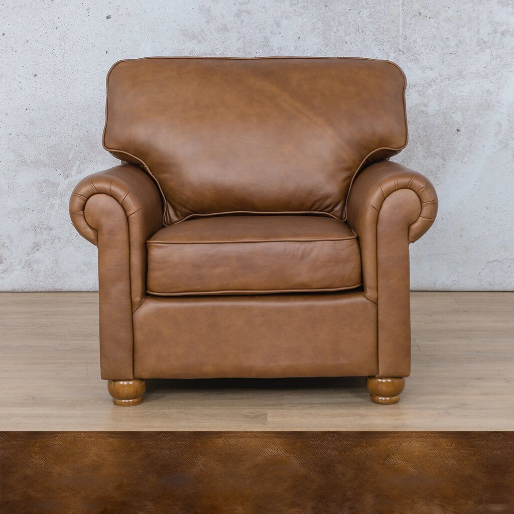Salisbury Leather Couch | 1 seater couch | Royal Walnut | Couches for Sale | Leather Gallery Couches