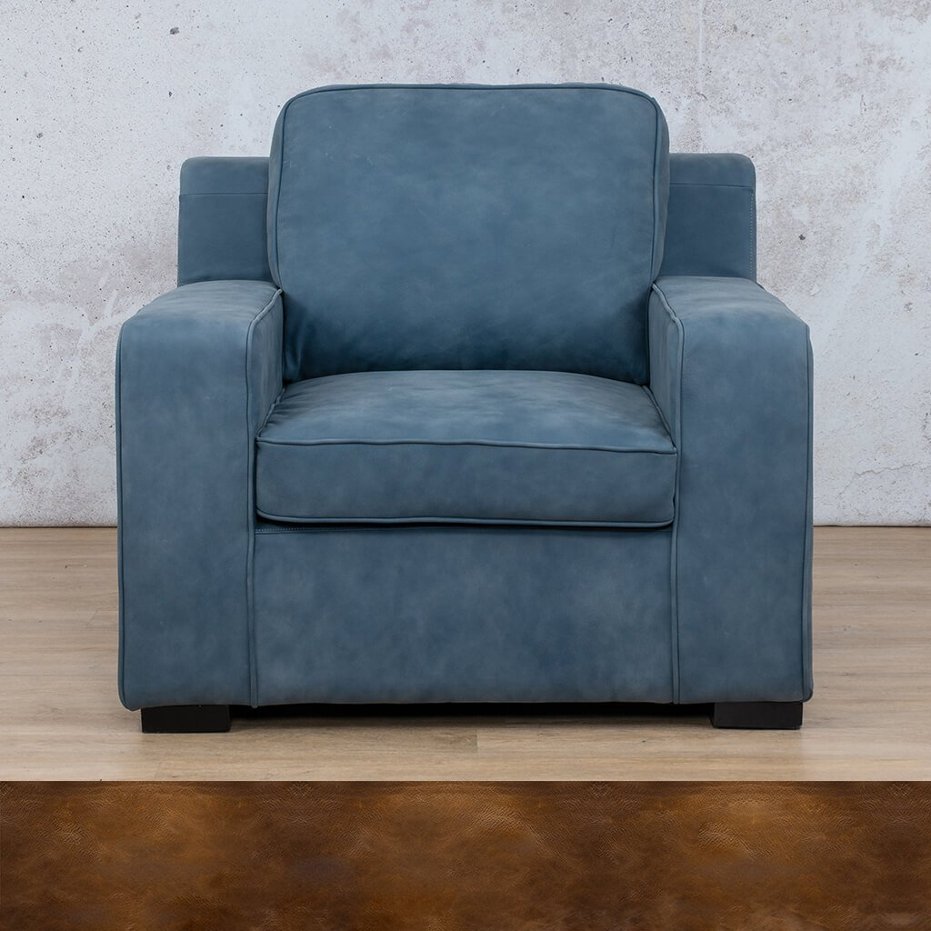 Arizona Leather | 1 Seater | Royal Walnut | Leather Gallery