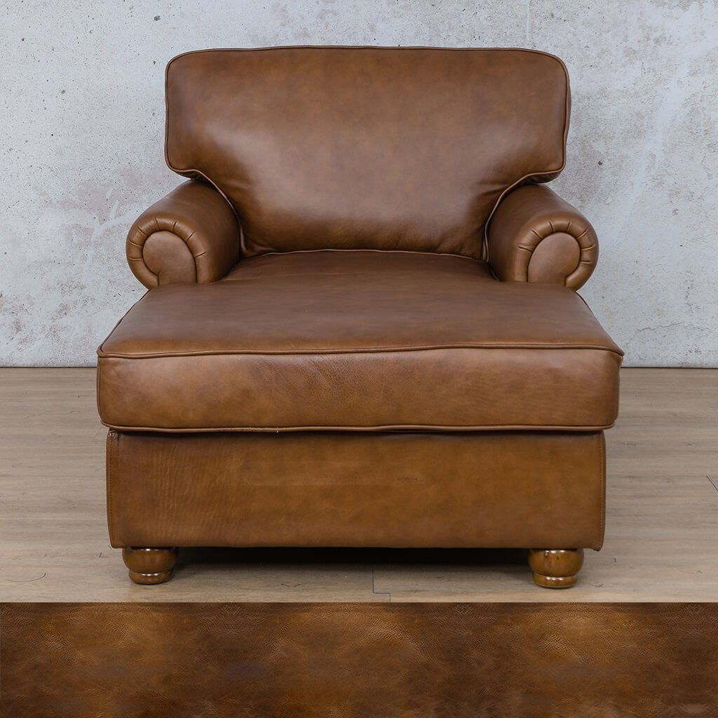 Salisbury Leather Corner Couch | 2 Arm Chaise | Royal Walnut | Couches For Sale | Leather Gallery Couches