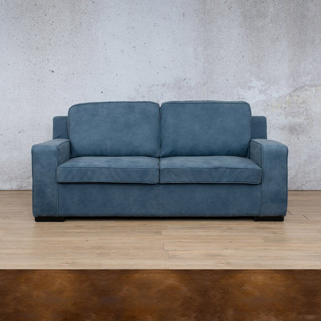 Arizona Leather Couch | 3 seater couch | Royal Walnut-A | Couches for Sale | Leather Gallery Couches