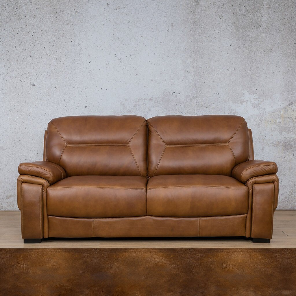 San Lorenze Leather Couch | 3 Seater Couch | Couches for Sale | Royal Walnut | Leather Gallery Couches