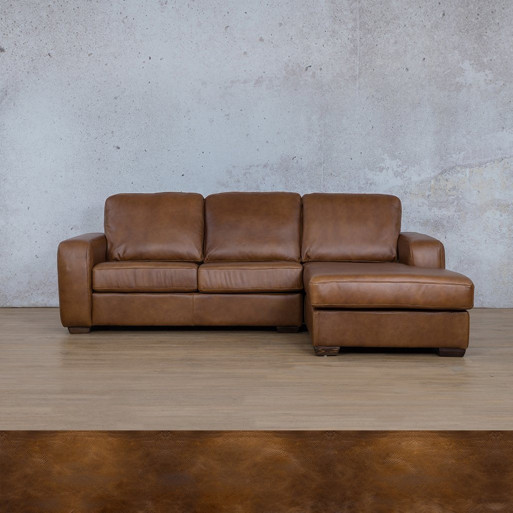 Starnford Leather Corner Couch | Sofa Chaise-RHF | Royal Walnut | Couches For Sale | Leather Gallery Couches