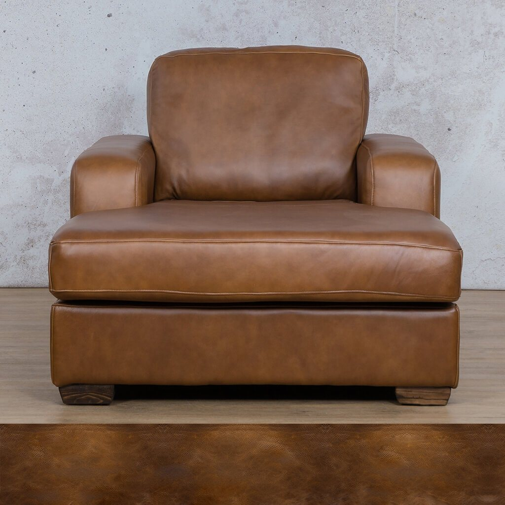 Starnford Leather Corner Couch | 2 Arm Chaise  | Royal Walnut | Couches For Sale | Leather Gallery Couches
