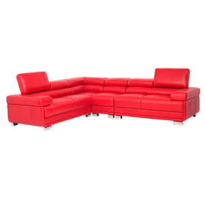San Miguel - Leather Corner Suite - Corner Suite - Full Top Grain Leather - Red