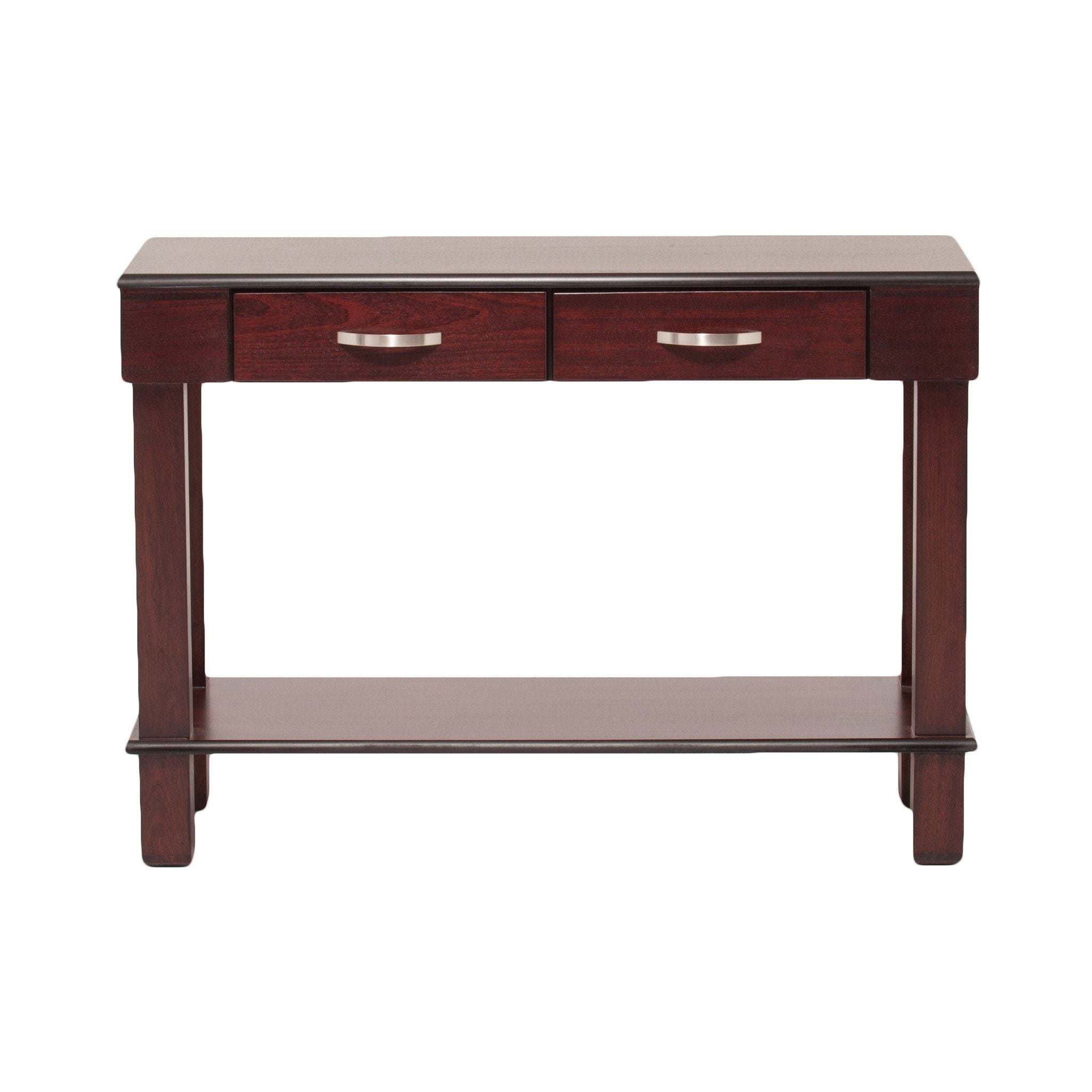 Urban Server with Drawers + Shelf - Walnut or Dark Mahogany