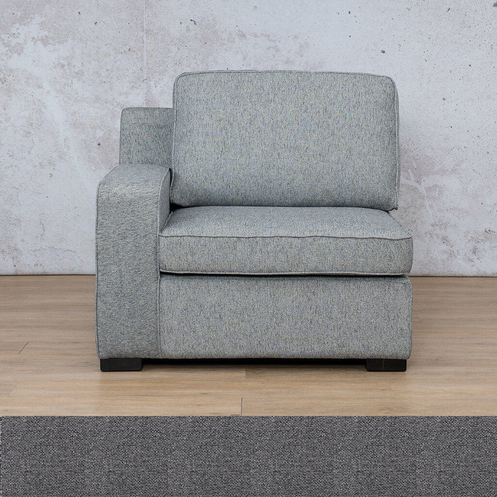 Arizona Fabric 1 Seater Right Arm