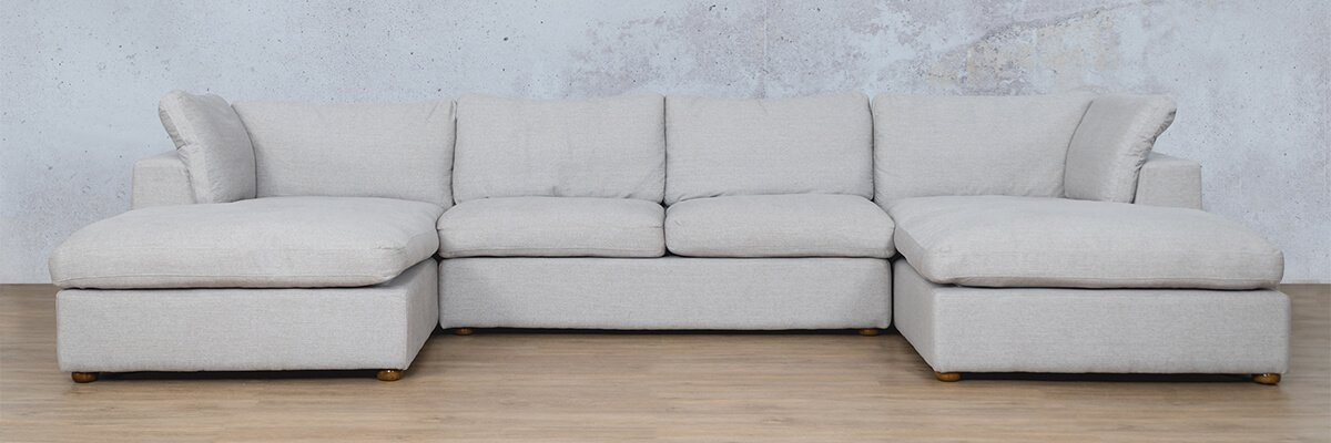 Skye Fabric Corner Couch | U-Sofa Sectional | Oyster-A | Couches For Sale | Leather Gallery Couches