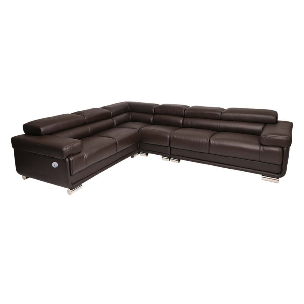 Tobago Leather Corner Couch | L-Sectional 5 Seater Couch | Brown | Couches For Sale | Leather Gallery Couches