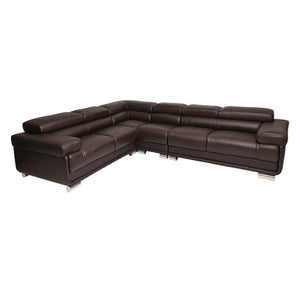San Miguel - Leather Corner Suite - Corner Suite - Full Top Grain Leather - Choc