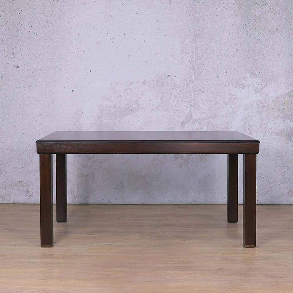 Urban Dining Table | Dark Mahogany | 1600 | Leather Gallery
