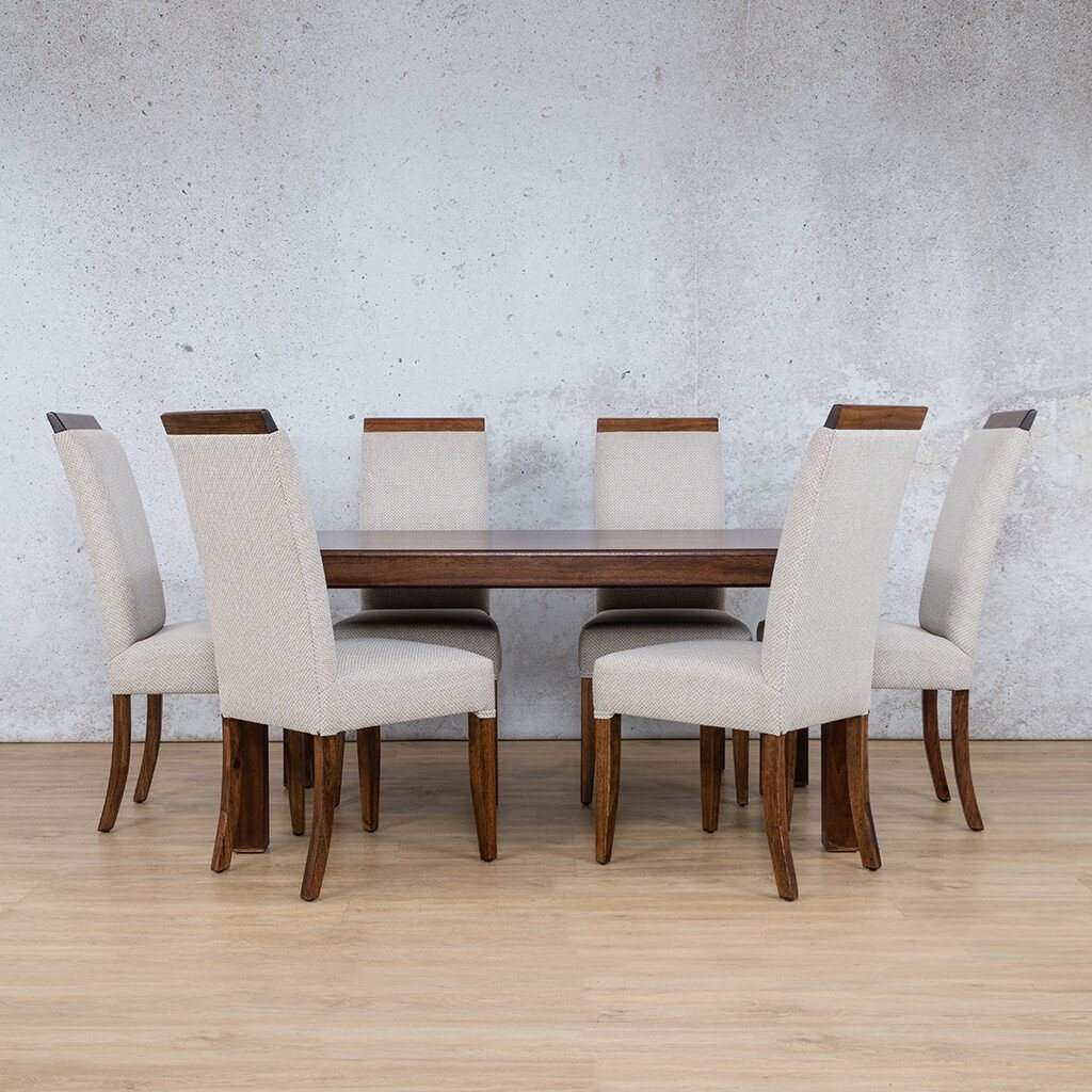 Urban Dining Set | 6 Seater Dining Set | Dining sets for Sale | Wood | Leather Gallery Dining Sets