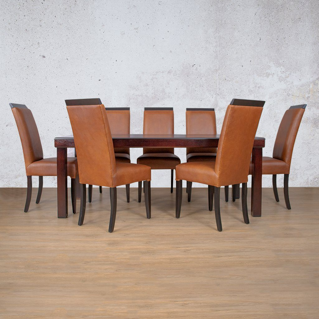 Urban Leather Dining Set - 8 Seater | Leather Gallery