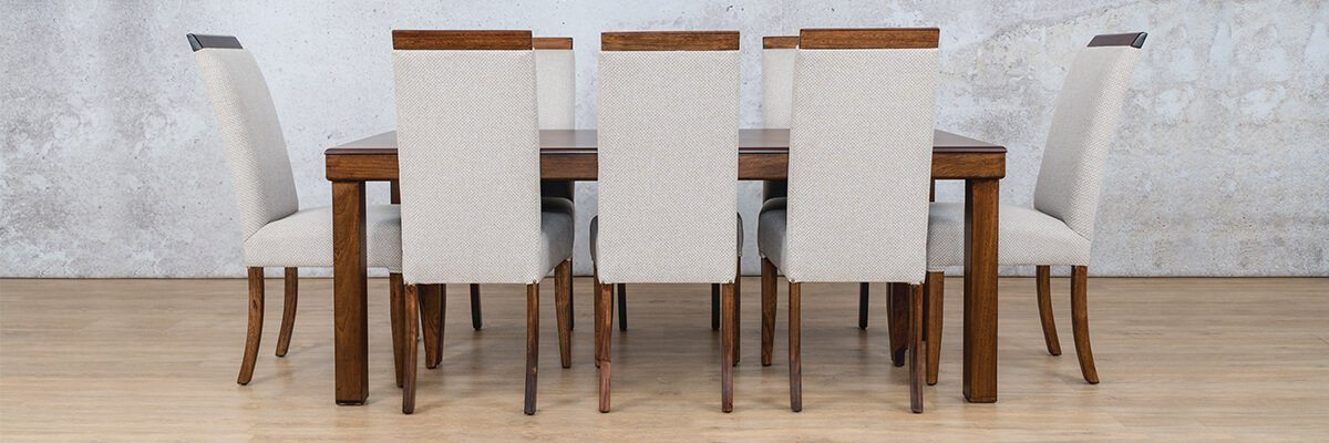 Urban Dining Set | 7 Seater Dining Set | Dining sets for Sale | Wood | Leather Gallery Dining Sets