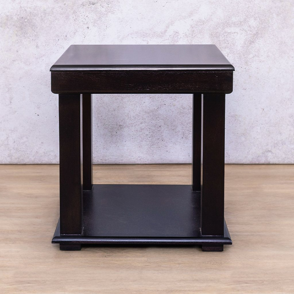 Urban | Side Table | Dark Mahogany | Leather Gallery