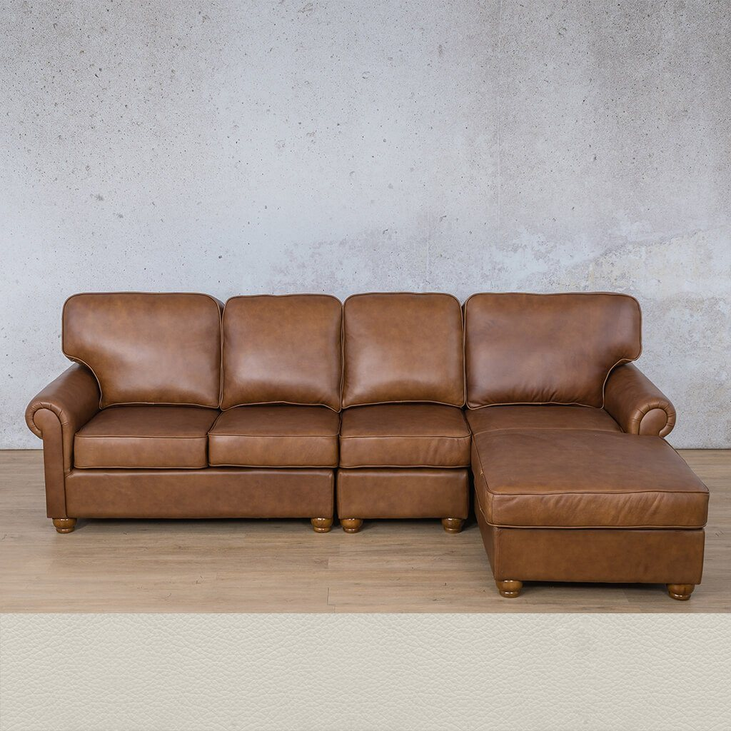 finest selection 3cb44 ed092 Salisbury Leather Sofa Chaise Modular Sectional - RHF