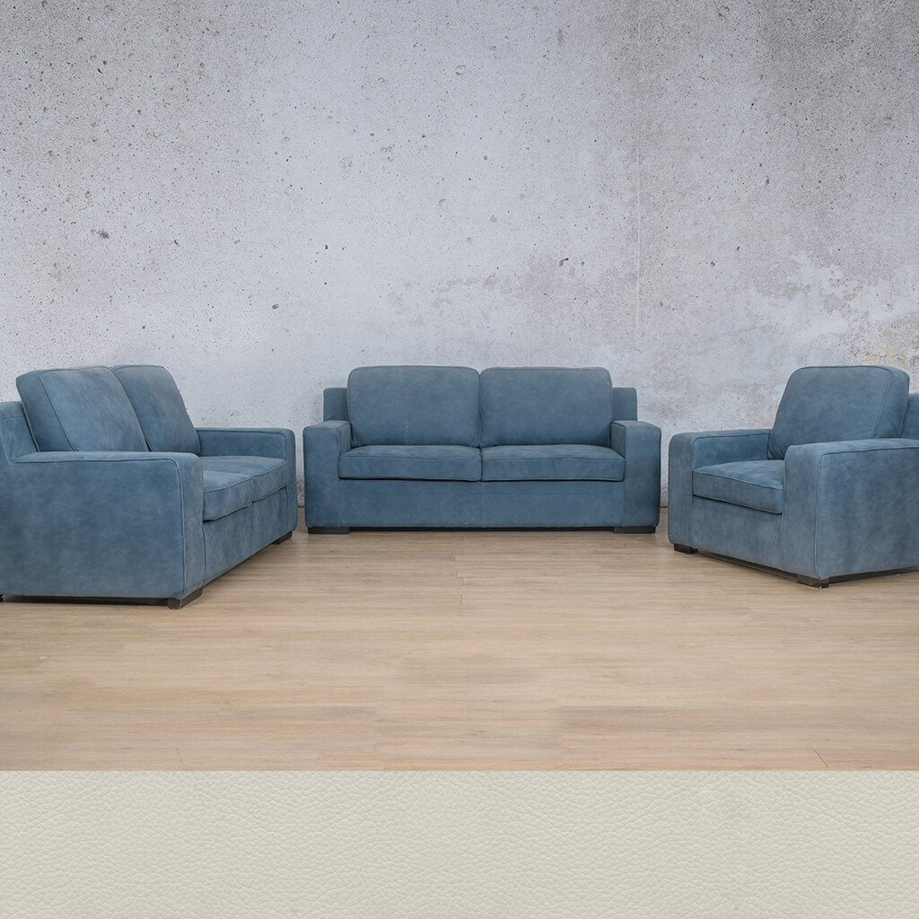 Arizona Leather Couches | 3-2-1 Seater Couches | Couches for Sale | Urban White | Leather Gallery Couches