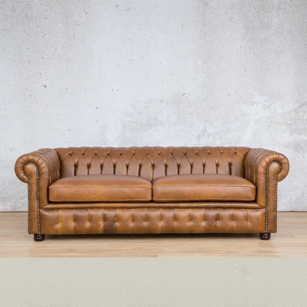 Chesterfield Leather Couch | 3 seater couch | Urban White | Couches for Sale | Leather Gallery Couches