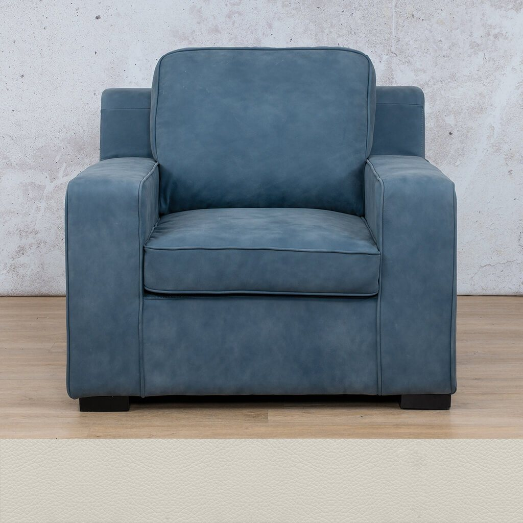 Arizona Leather | 1 Seater | Urban White | Leather Gallery